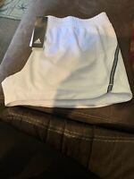 Adidas Women's White & Black Stripe Shorts New With Tags Size XL MRSP $25.00