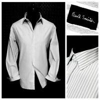 ⭐ Mens PAUL SMITH Italy premium cotton striped LS shirt size medium 39/15.5