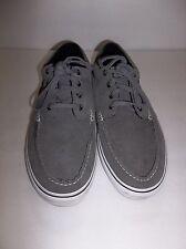 Men's Vans Gray Suede Leather Boat Shoes US Size 12
