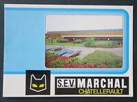 Brochure dépliant REGLOLUX SEV MARCHAL CHATELLERAULT automobile phare
