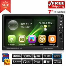"""HD 7"""" In Dash Double 2 Din Car Stereo DVD Player GPS Navigation Bluetooth KN"""