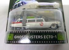 2015 HOT WHEELS 1/64 SCALE GHOSTBUSTERS ECTO-1 MOVIE CAR WHITEWALL REAL RIDERS