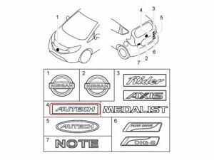 "[NEW] JDM Nissan NOTE E12 Emblem Rear ""AUTECH"" Genuine OEM VERSA NOTE"