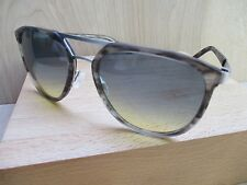 ALLIED METAL WORKS A040 Japan brushed silver metal gray large sunglasses