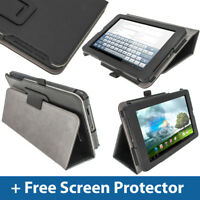 "Black Leather Case for Asus MeMo Pad ME172V 7"" 3G Android Tablet Cover Holder"