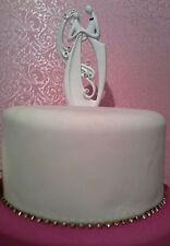 BRIDAL/WEDDING CAKE TOPPER/DECORATION - Embracing Bride & Groom