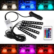 4x RGB LED Innenraumbeleuchtung Fußraumbeleuchtung Auto Ambientebeleuchtung DHL