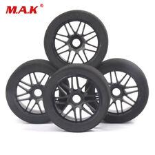 4Pcs 17mm Hex Pre-glued Foam Tires & Nylon Wheel For R/C 1:8 Racing Car Model