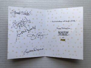 BOSTON PUBLIC Promo Holiday Card CAST SIGNED Fyvush Finkel Chi McBride Jeri Ryan