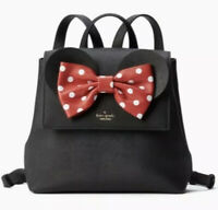Kate Spade PXRU8273 Disney Minnie Mouse Small Neema Backpack Bag Purse BLACK NWT