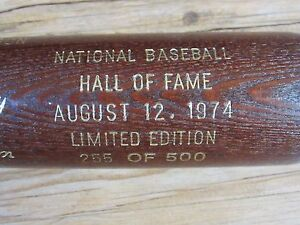 1974 Hall of Fame Brown Bat Mickey Mantle, Whitey Ford, Cool Papa Bell, Conlan