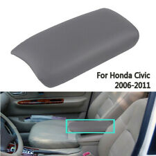 For 06-11 Honda Civic Leather Armrest Cover Base Console Lid Gray Kit