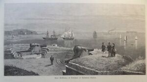 Baltimore Harbor Fort McHenry Maryland 1878