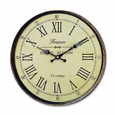 Vintage Style Wooden Wall Clock Large Shabby Chic Rustic Kitchen Home Decoration