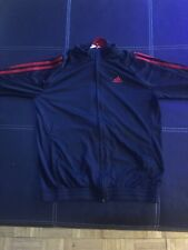 Adidas 3-Stripe Tricot Tracksuit Jacket Black And Red
