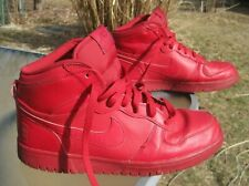 NIKE Big High Gym Red # 336608-660 / Pre-owned / US Men 9.5 / Red Leather Uppers