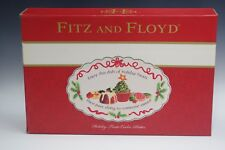 """Fitz And Floyd Holiday Treats Cookie Platter 14"""" by 10"""" new in box"""