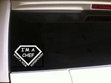 "Chef Superpower vinyl window sticker decal 6"" *C2* food cooks cuisine culinary"