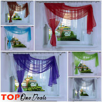 Novelty Ready Made Voile Net Curtains Pelmets Modern Living Dining Room Bedroom