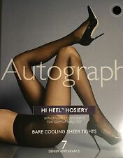 M&S New AutographHI HEEL7Den Invis/Cushioning.Bare Cooling Tights Nat/Tan Small