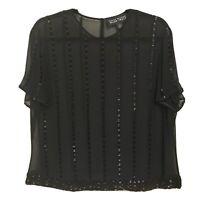 LINDA ALLARD silk heavily beaded blouse AB6