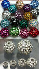 Ferido Balls Czech Crystal Epoxy Coated Various Size&Colors 10pieces/1set