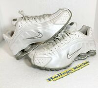 Nike Shox R4 Running Shoes White Gray Silver 104265-117 Size 8