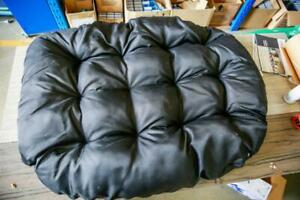 Extra Large Black Egg chair Cushions - extra comfortable
