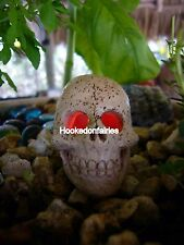 Miniature  Light up Skull  LED FA83  color changing Fairy Garden Dollhouse