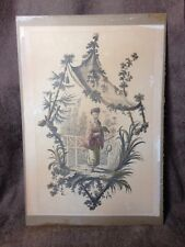 Rare Vintage Japanese Woman With Parrots Print