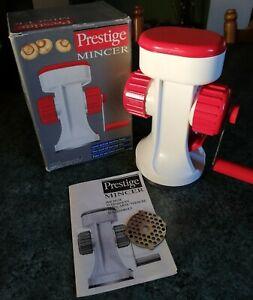 Vintage Prestige Mincer in Original Box. Pre-owned.