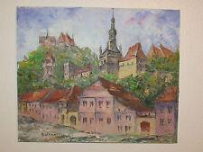Vintage Original Oil Painting On Canvas Signed