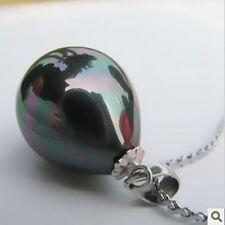 Beautiful high lustre black peacock 14 mm southsea shell pearl pendant