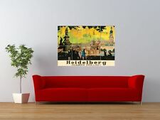 ADVERT HEIDELBERG RAIL CITY PAINTING GIANT ART PRINT PANEL POSTER NOR0233