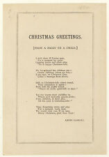 Lewis Carroll - Christmas Greetings - 1884 - FIRST EDITION FIRST ISSUE!