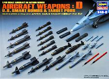 Hasegawa X48-8 AIRCRAFT WEAPONS D U.S. SMART BOMBS 1/48 scale kit