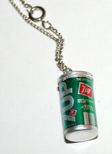 Toy Vending Prize 7UP UN-COLA Soda Can Necklace Pendant 1970s NOS New