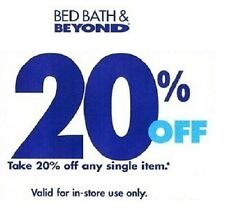 LOT OF 50 - Bed Bath And Beyond 20% Off  Single Item In Store Coupons