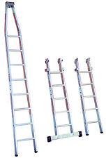 Krause 802187 GlasreinigerLeiter 18 Sprossen 5,7 m Glasreiniger Leiter 3-teilig