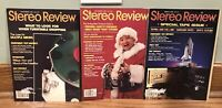 STEREO REVIEW Lot Of 3 VINTAGE MAGAZINES, Nov '81, Dec '81, Mar '82 Test Reports