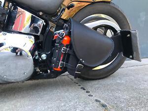 Harley Davidson Schwarz Diablo Black VN 800 900 Schwingentasche Schwarz