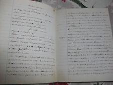 Cahier d'écolier d'histoire manuscrit année scolaire 1853-1854 Louis Declerc