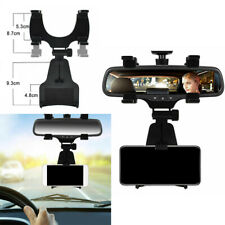 Car Suv Rearview Mirror Mount Stand Holder Cradle Accessories For Cell Phone Gps (Fits: Charger)
