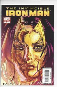 Invincible Iron Man #8 NM (9.2) (2009) 1:10 Sienkiewicz Madame Masque Variant