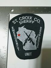 DD Police patch patches Sheriff St. Croix county Wisconsin tactical ERU