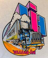 1970s IH INTERNATIONAL HARVESTER Trucker vTg Big Rig Semi Truck T-shirt iron-on