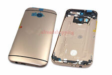 Gold OEM Replacement Battery Back Door Housing Button Cover for HTC One M8