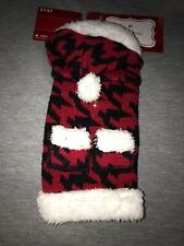 NWT Dog Holiday Sweater Christmas With Hood Red & Black Warm & Soft! XXS Puppy