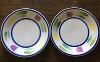 Vintage TRE CI Large Dinner Plates (2) Made in ITALY Discontinued RARE  11.5""