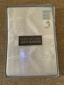 JEFF BANKS PORTS OF CALL IVORY JACQUARD DOUBLE DUVET SET
